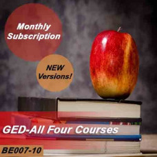 GED - All four courses - Monthly Subscription - NEW versions!