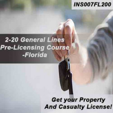 Florida: 200 hr Prelicensing - 2-20 Property and Casualty, General Lines Agent Pre-Licensing Course (INS007FL200)