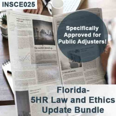 Florida: 16 hr CE Bundle - Includes 5-hour Law and Ethics Update for Public Adjusters (3-20) and 11 hours of General Elective credits